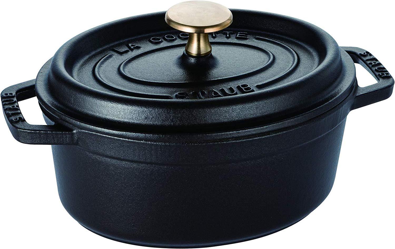 cocotte en fonte  Staub 1101725 Cocotte Ovale Noir Mat 17 cm